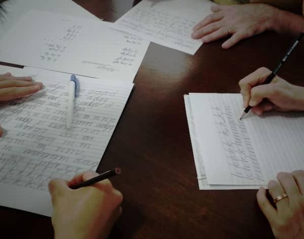 corso calligrafia corsivo