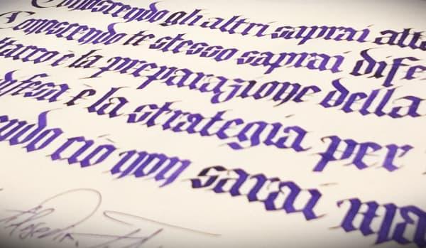 calligrafia gotica