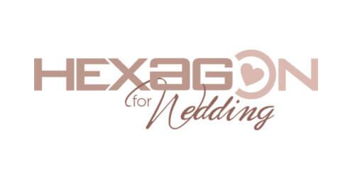 calligrafia hexagon wedding