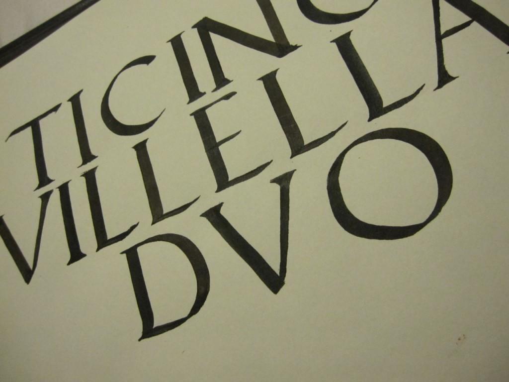 Bella Scrittura Scrittura Capitale Alfabeto Romano E
