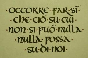 Calligrafia capitale. Onciale
