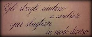 Calligrafia corsiva. Corsivo inglese