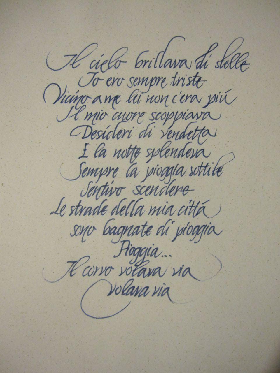 Auguri Di Matrimonio Tumblr : Bella scrittura calligrafia corsiva cancelleresca e