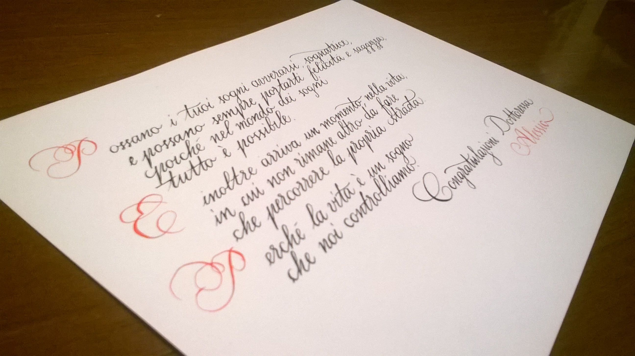 calligrafia corsivo inglese