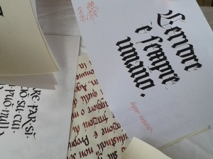Scriptorium Calligrafia. Gotico Medievale