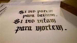 Calligrafia gotica Palazzuolo sul Senio