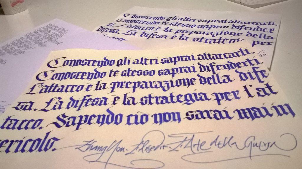 Calligrafia Gotico Texture