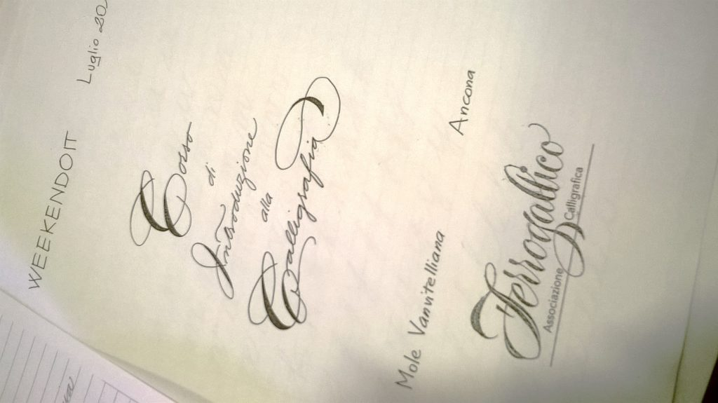 ferrogallico weekendoit calligrafia