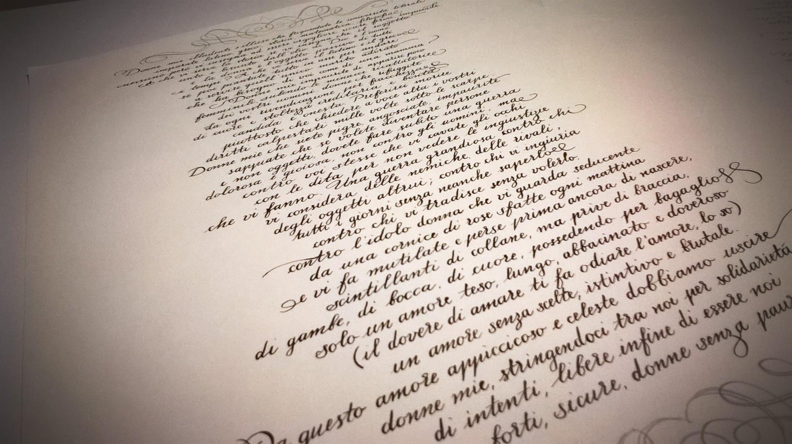 scrittura corsiva