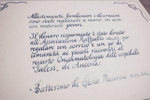 Pergamena battesimo calligrafia