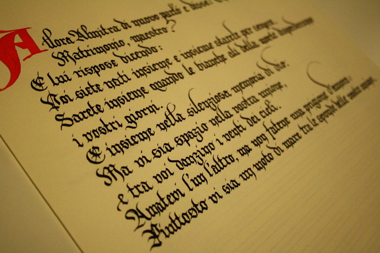 Auguri Matrimonio Gibran : Bella scrittura matrimonio in regalo una poesia su una