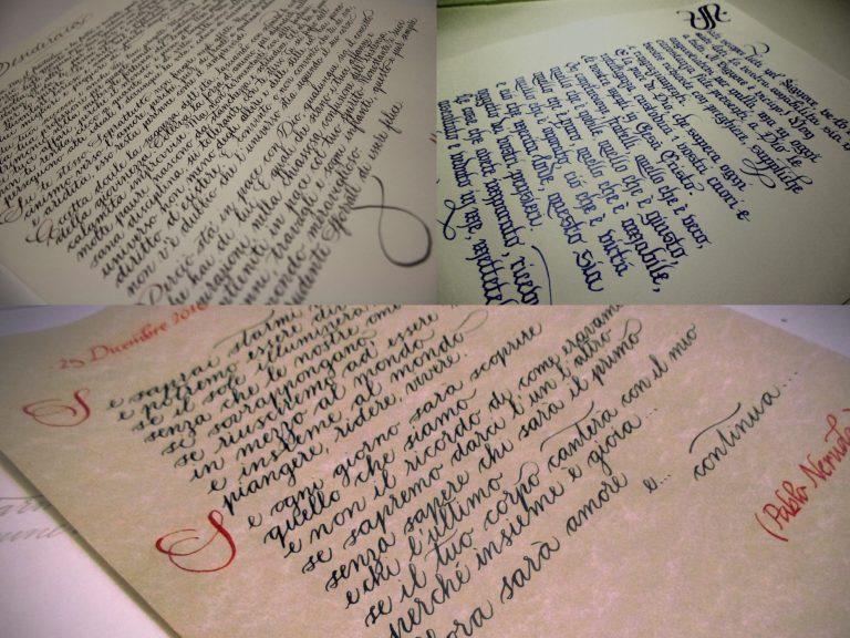 Poesie Di Natale Venete.Bella Scrittura Calligrafia Natalizia Per Un Idea Regalo Di Natale