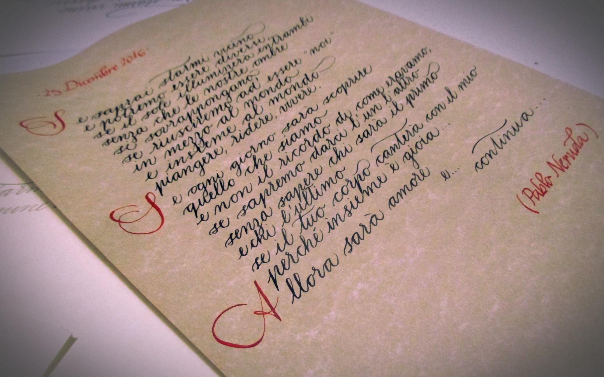 Calligrafia corsiva. Corsivo spencerian