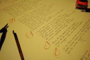 Poesia in corsivo