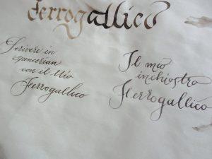 Inchiostro ferrogallico scrittura