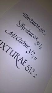 Mixturae. Calligrafia etichette