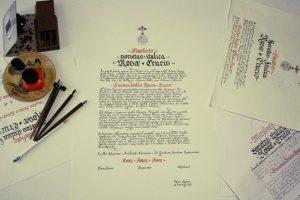 Manifesto scritto a mano