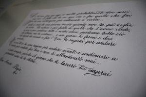 poesia corsivo