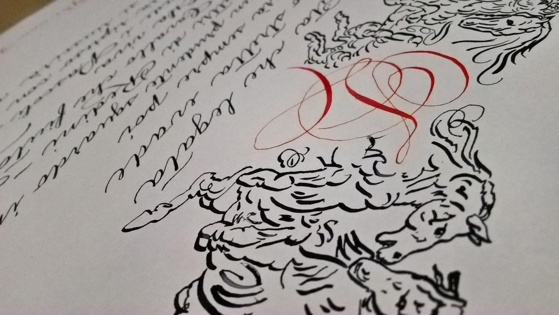 calligrafia per matrimonio