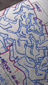 calligrafia e writing