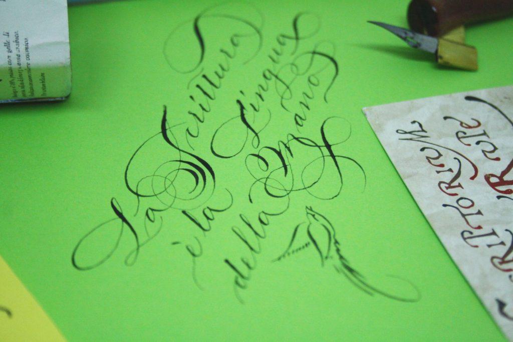 Scrittura corsivo Spencerian #calligraphyitalia
