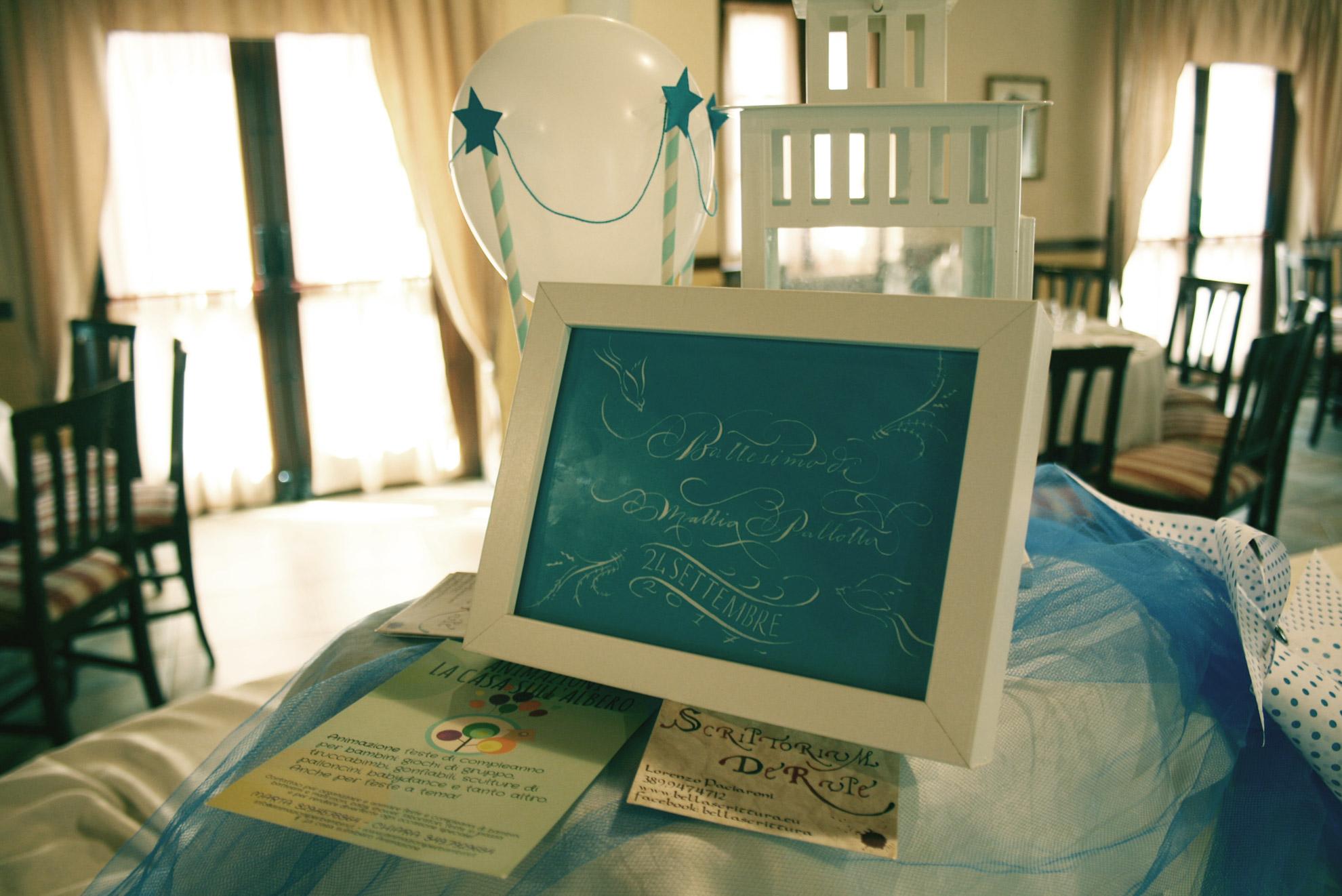 calligrafia battesimi