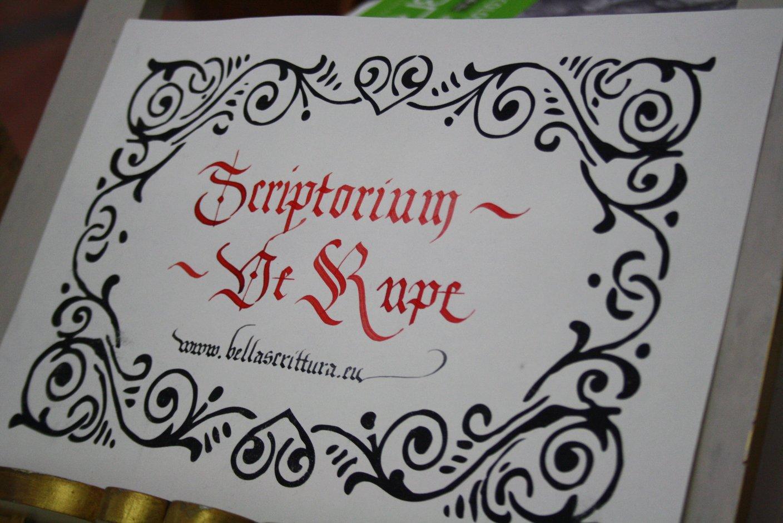 scrttura medievale scriptorium