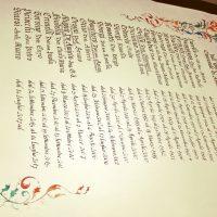 pergamena con nomi gotico