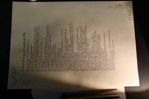 Pergamena di nozze calligrafia