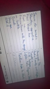 scrittura a mano