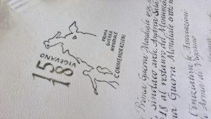 Pergamena celebrativa Vigevano