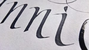 Black calligraphy ink