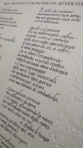 Pergamena corsivo carta a mano