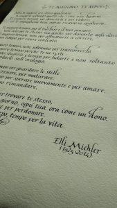 pergamena in stile corsivo