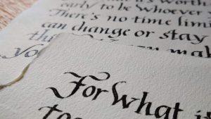 Calligrafia corsivo regalo aziendale