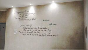 Scritte fatte a mano su muro