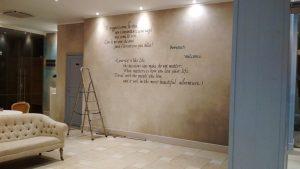 muro scritto a mano