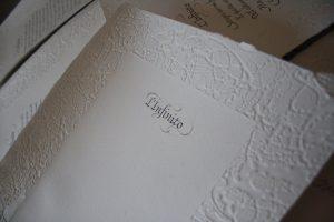calligrafia carta a mano
