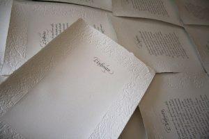 carta a mano calligrafia