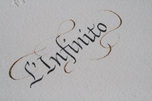 infinito poesia calligrafia