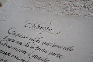 poesia scrittura corsiva