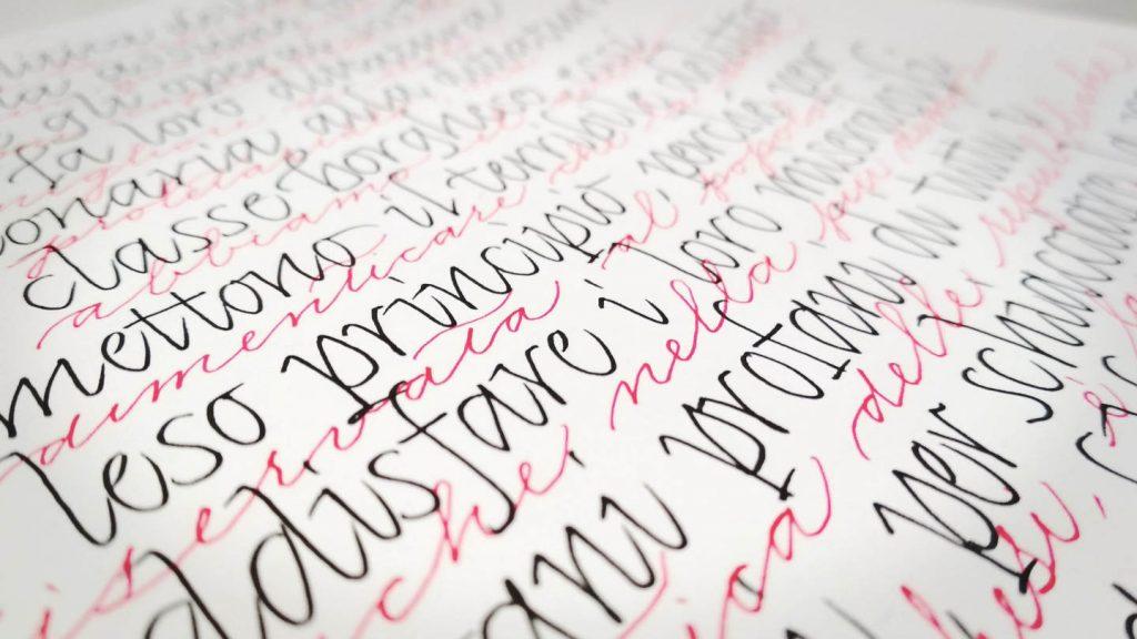 introduzione alla calligrafia in corsivo
