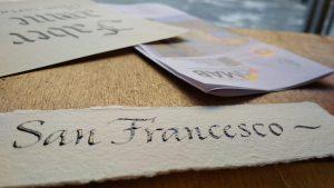 san francesco calligrafia