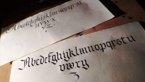 alfabeti calligrafia