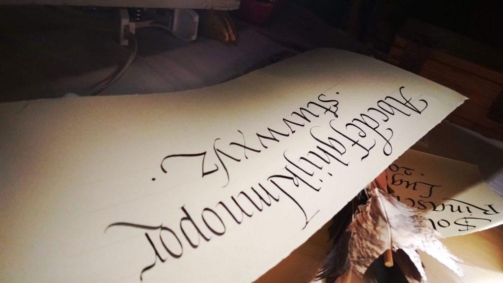 calligrafia corsivo