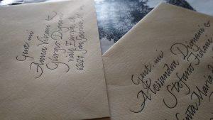 calligrafia indirizzi