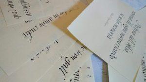 calligrafia corsivo italico