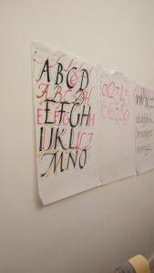 calligrafia roma