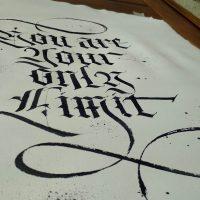carattere gotico