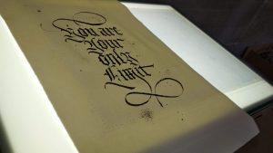 calligrafia gotico